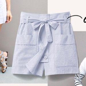 CAbi Court Skort # 5181 Stretchy Paper Bag Waist